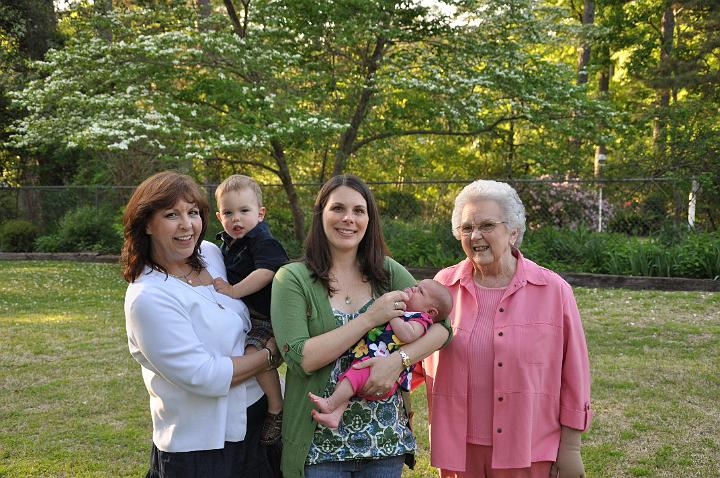 Nana, Jackson, E, Audrey, and Grandmother Napper