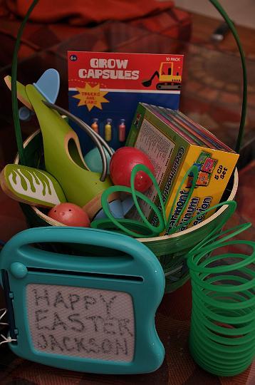 Jackson's Easter Basket
