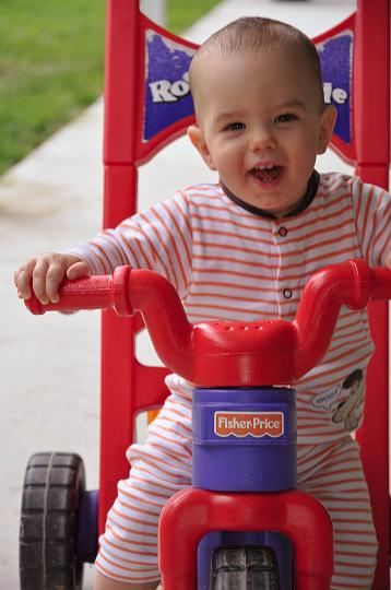 Jackson on the tricycle