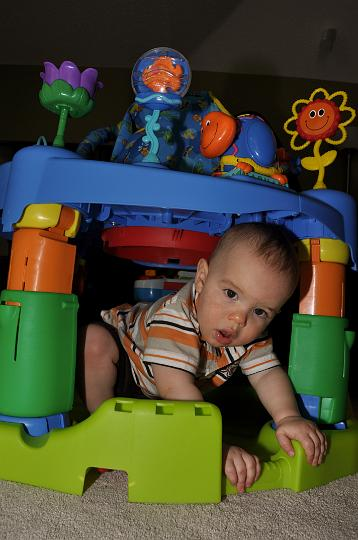Jackson under the exersaucer