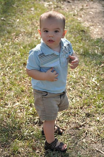 Jackson walking in the park