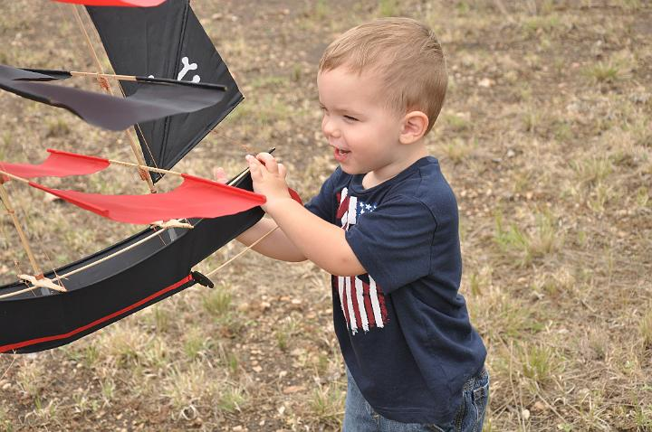 Jackson flying a kite