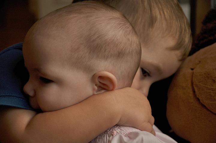 Jackson hugging Audrey