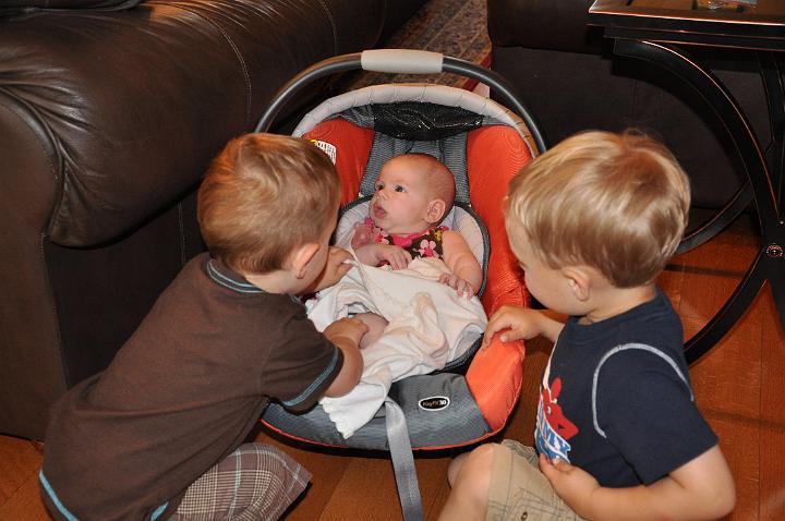 Carter & Jackson taking care of Audrey