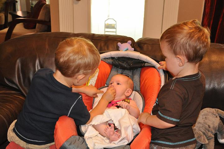 Carter & Jackson taking care of Audrey