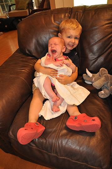 Carter taking care of Audrey