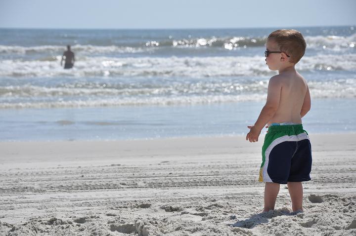Jackson at the beach