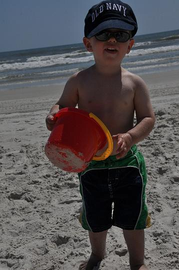 Jackson playing in the sand
