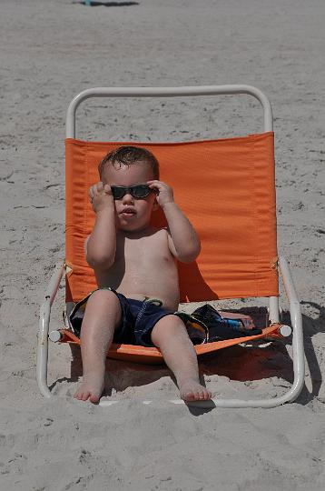 Jackson relaxing at the beach