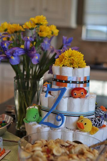 Z Diaper Cake